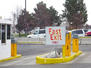 Fast exit gate Boise Airport