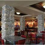 Hotel Dining Room with Pillars